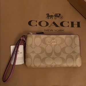 COACH Double Zip Wristlet/Clutch
